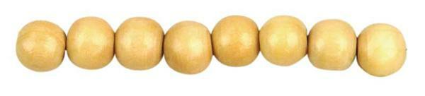 Perles en bois Ø 6 mm - 125 pces, naturel