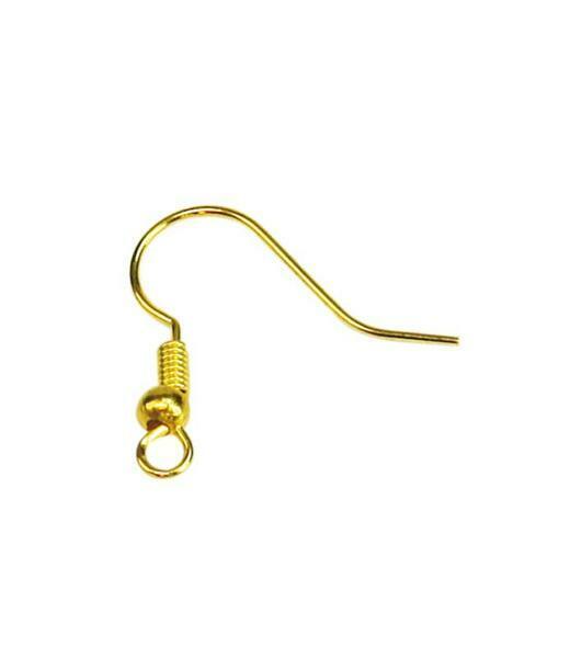Ohrhaken offen - 24 Stk., goldfarbig