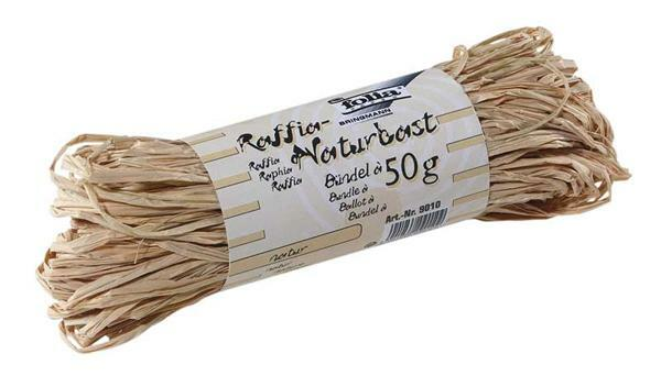 Raphia naturel - 50 g, ton naturel
