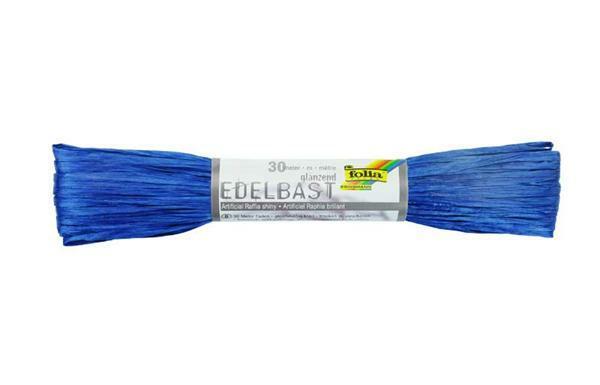 Edelbast glanzend - 30 m, blauw