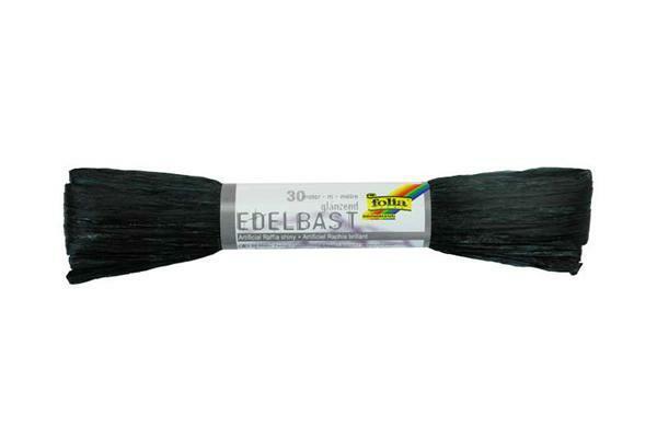 Edelbast glanzend - 30 m, zwart