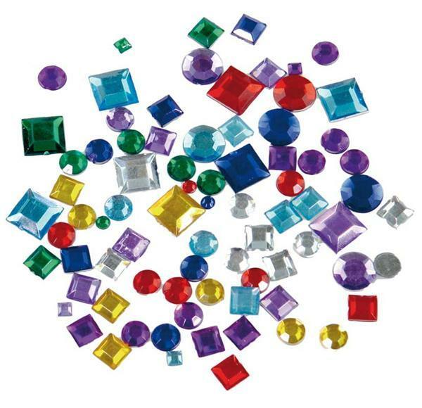 Pierres à bijoux - 800 pces, carrées et rondes