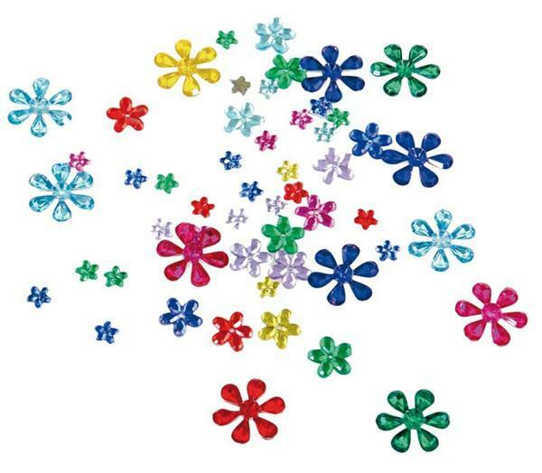 Pierres à bijoux - 200 pces, fleurs