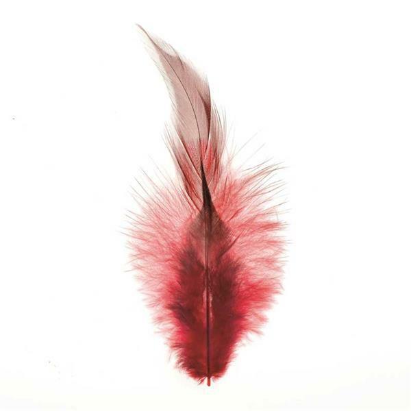 Decoratieve veren - 15 st., rood