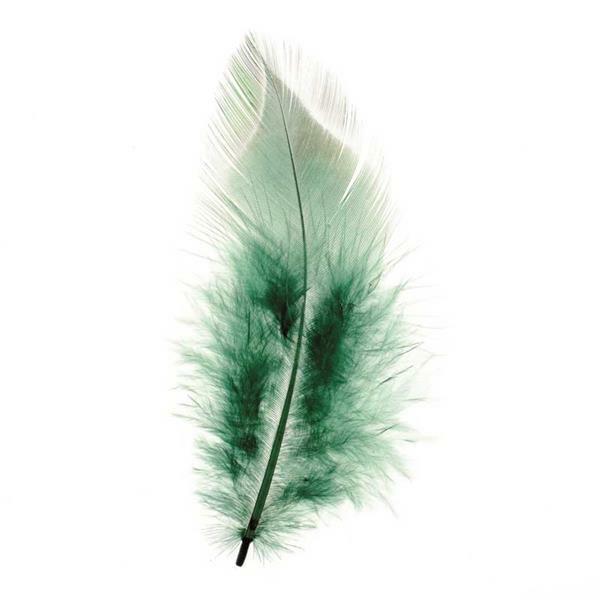 Decoratieve veren - 15 st., groen