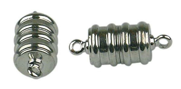 Fermoirs magnétiques -2 pces, coloris argent/petit