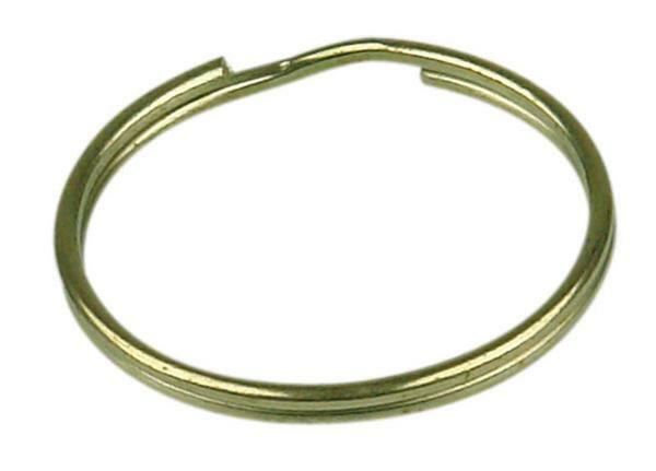 Sleutelring - 10 st., Ø 25 mm, goudkleurig