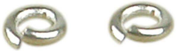 Anneaux intermédiaires - 20 pces, Ø 4 mm, argenté