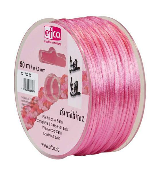 Corde de satin Ø 2 mm, rose