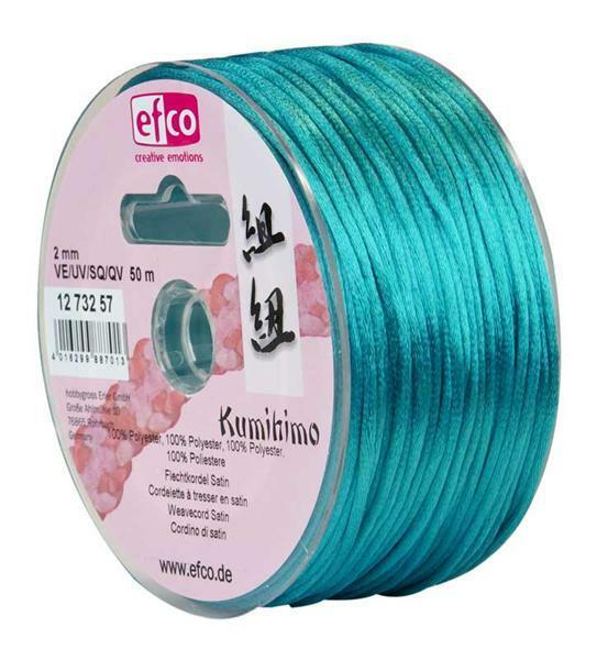 Corde de satin Ø 2 mm, turquoise
