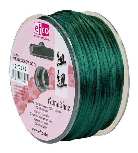 Satinkordel Ø 2 mm, dunkelgrün