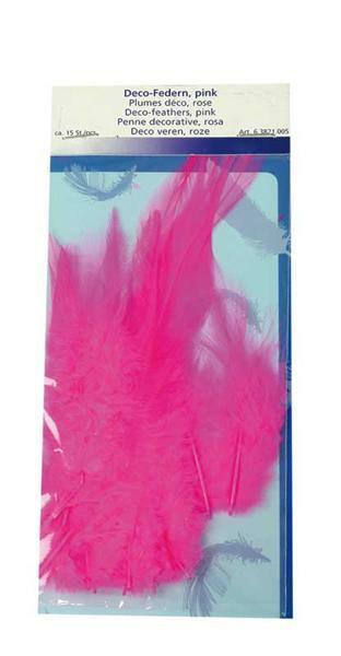 Decofedern - 15 Stk., pink