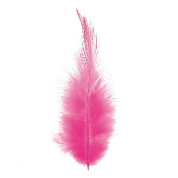 Plumes déco - 15 pces, pink