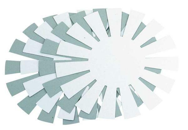 Mandvlechtsteunplaat - 4 stuks, Ø 8 cm