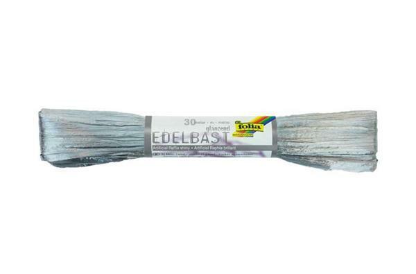 Edelbast glanzend - 30 m, zilver