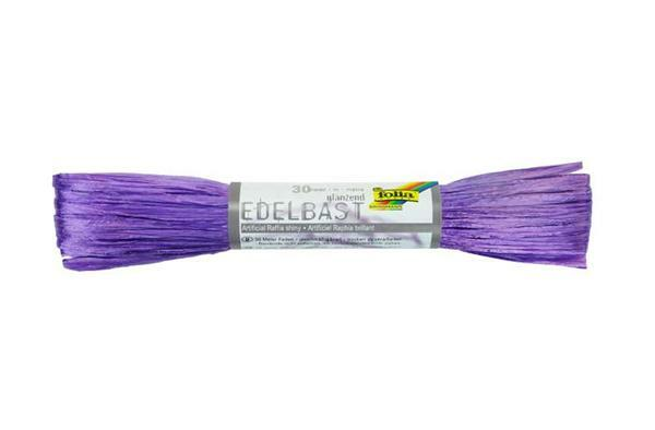 Edelbast glänzend - 30 m, violett