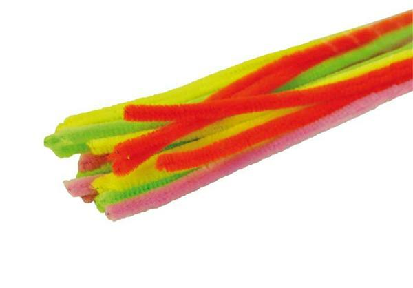 Chenilledraht neon - 10 Stk., Ø 9 mm, 50 cm