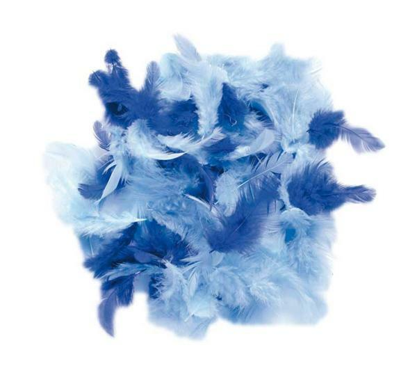 Decoratieveren mix - 10 g, blauw