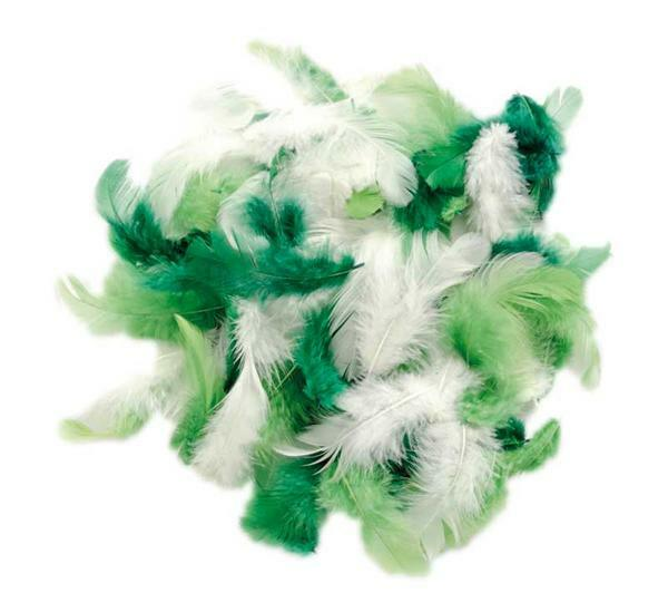 Decoratieveren mix - 10 g, groen
