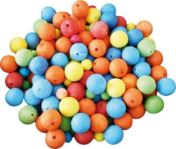 Boules en ouate multicolore, 60 pces,