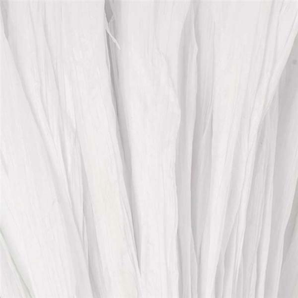 Raffia mat - 10 m, wit