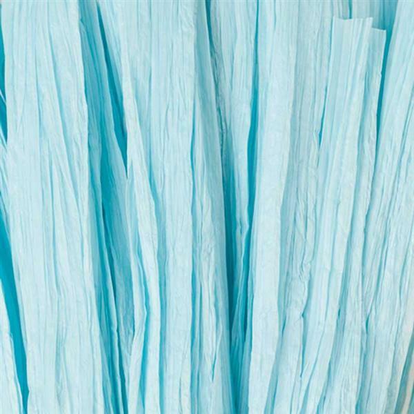 Raffia mat - 10 m, aqua