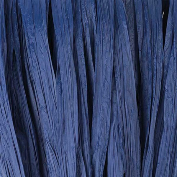 Raffia mat - 10 m, medium blauw