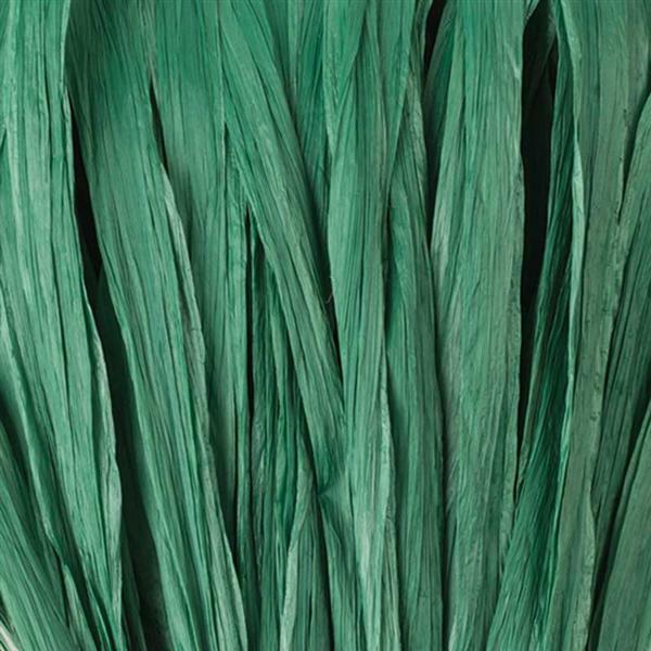 Raffia mat - 10 m, groen