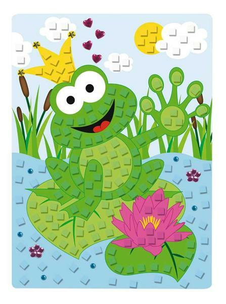Moosgummi - Mosaik Set, Frosch
