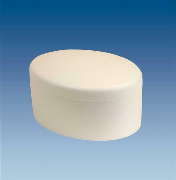Polystyrène expansé - boîte ovale, 15,5 x 11,5 cm