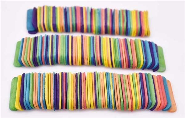 Knutselhout - gekleurd, 200 stuks