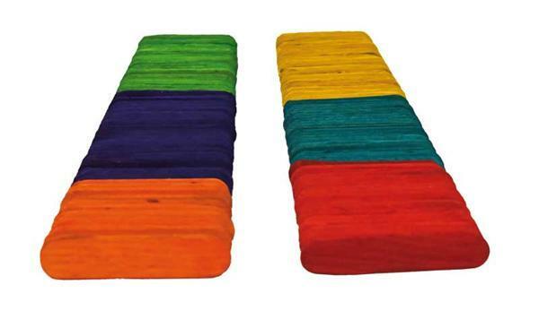 Bois de bricolage - multicolore, 200 pces