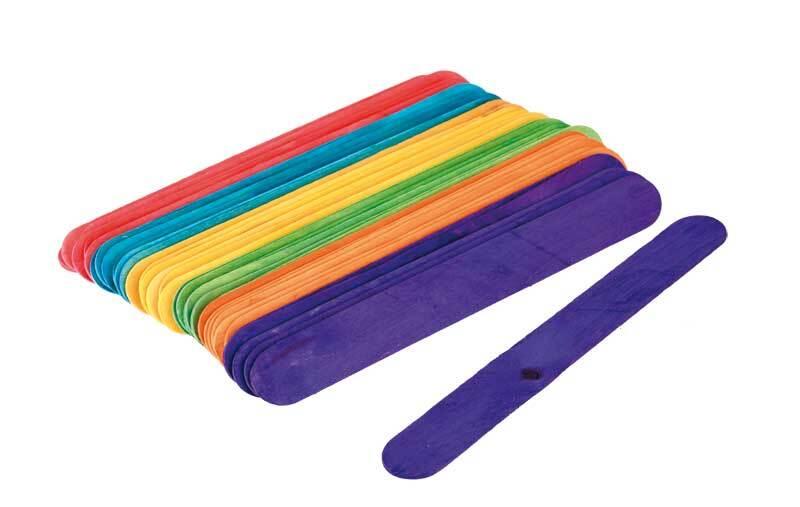 Bâtonnets en bois - multicolore, 36 pces