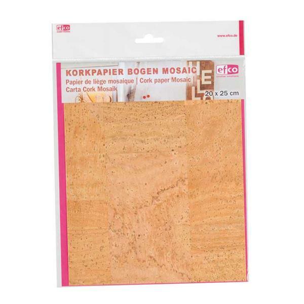 Papier de liège - 25 x 20 cm, mosaïque
