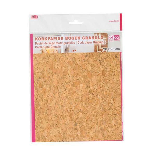 Kurkpapier - 25 x 20 cm, granulo