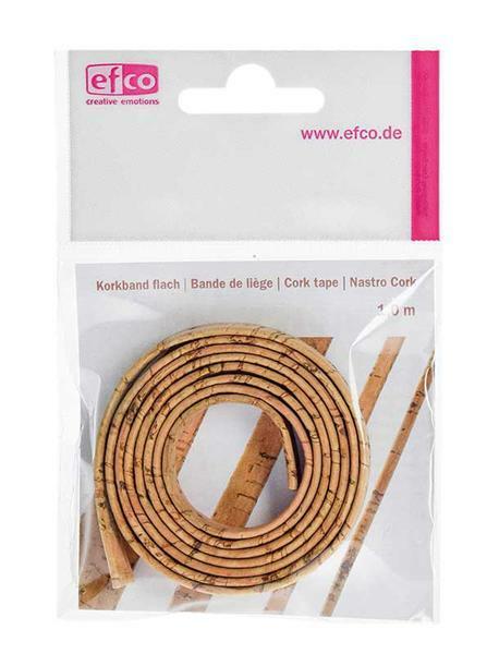 Korkband flach - 100 cm, 10 mm