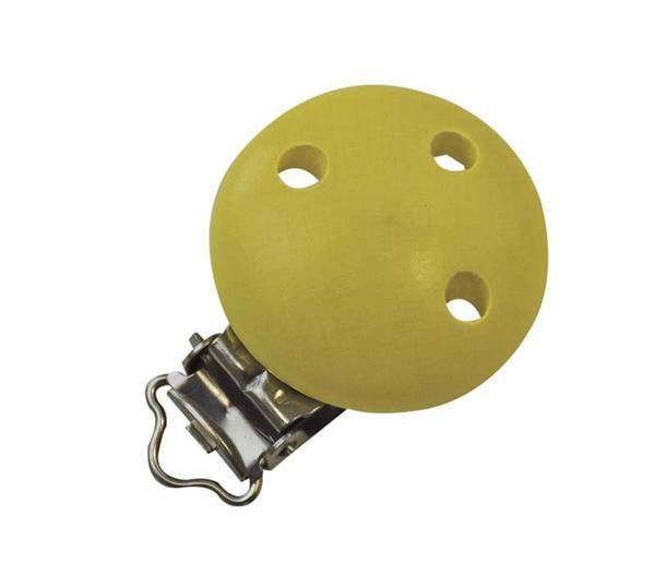 Clip pour tétine, jaune citron