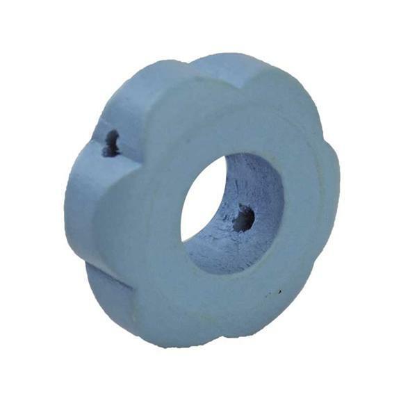 Motief kraal - bloem, lichtblauw