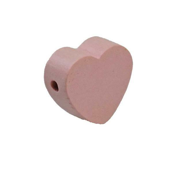 Motief kraal - hart, roze