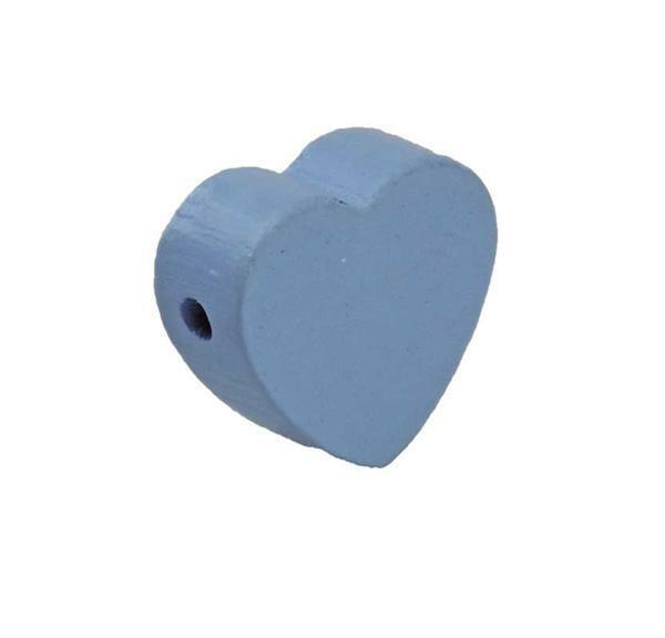 Motief kraal - hart, lichtblauw