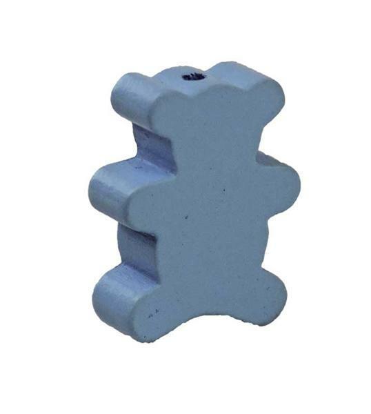 Motivperle - Bär, hellblau