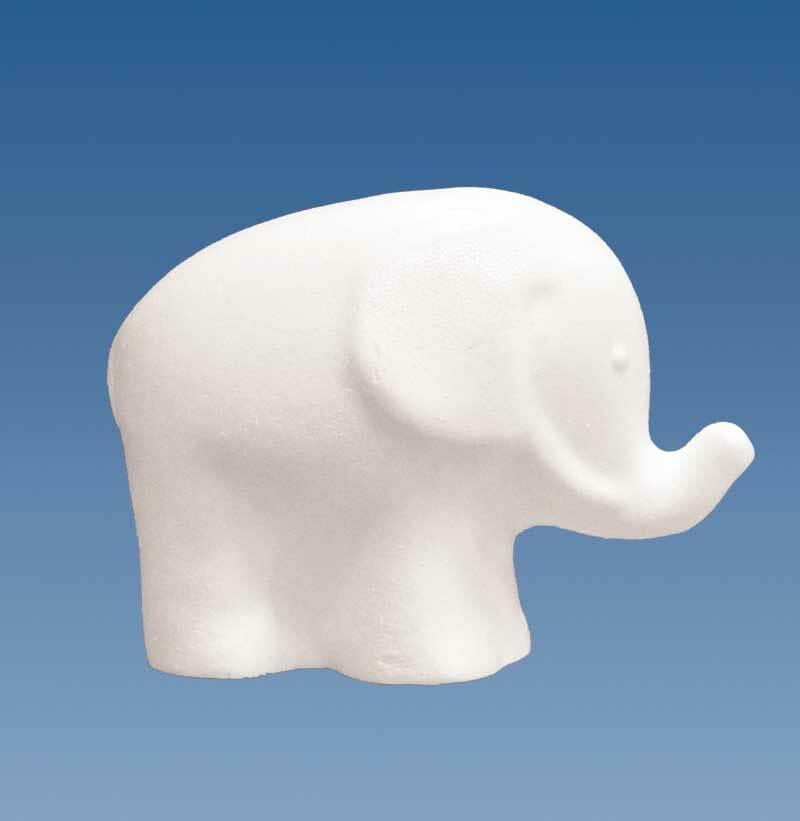 Polystyrène expansé - Eléphant, 11 x 15 cm