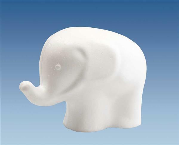 Tempex - olifant, 11 x 15 cm
