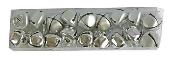 Bellen - 18 st./pak, Ø 25 mm, zilvermix