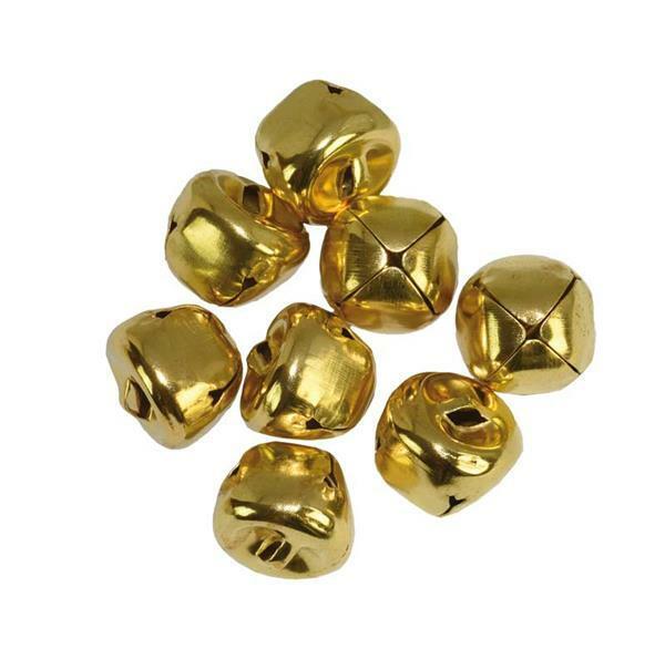 Bellen - 8 st./pak, Ø 15 mm, goudkleurig