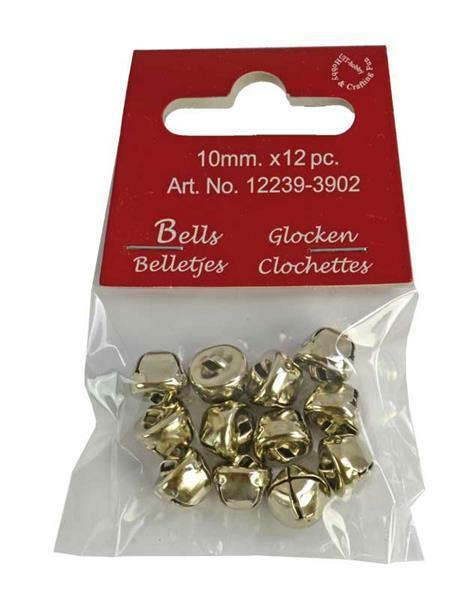 Grelots - 12 pces, Ø 10 mm, argenté