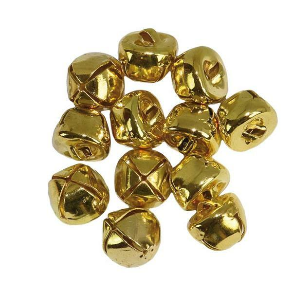 Bellen - 12 st./pak, Ø 10 mm, goudkleurig