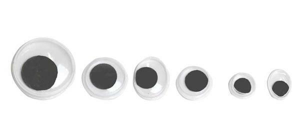 Assortiment yeux mobiles - 100 pces, autocollants