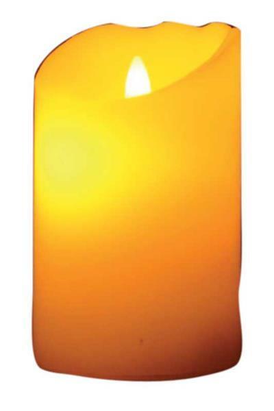 Kerze mit beweglicher LED-Flamme