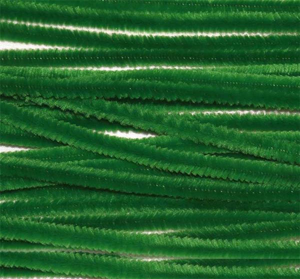 Chenilledraad - 10 st., 50 cm, mosgroen